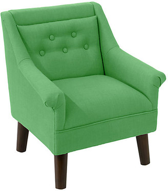 One Kings Lane Bella Kids' Accent Chair - Green Linen