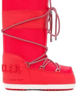 Moncler x Moonboot lace boots