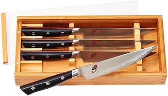 Set of 4 Evolution Steak Knives - Silver - Miyabi - silver/natural/multi