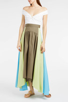 Peter Pilotto Panelled Cotton Maxi Skirt