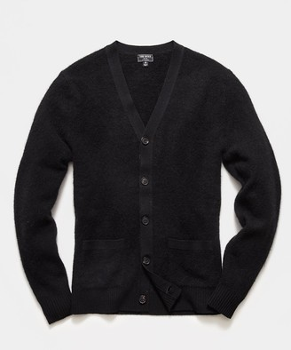 Todd Snyder Alpaca Cardigan in Black