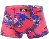 Panegy Mens Lounge Boxer Brief Breathable Printed Underwear Size XXXL - Pink