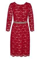 Hallhuber Midi lace dress with belt