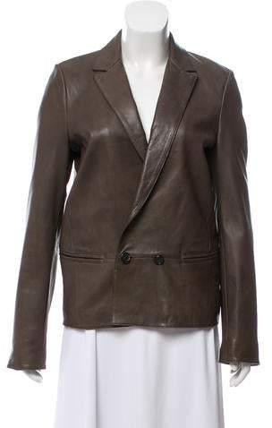 Giada Forte Double-Breasted Leather Blazer w/ Tags
