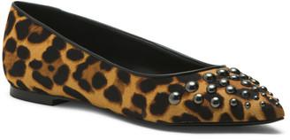 Leopard Printed Haircalf Flats