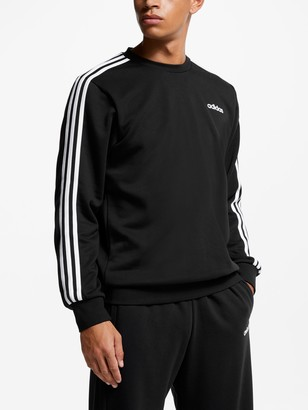 adidas Essentials 3-Stripes Sweatshirt, Black/White