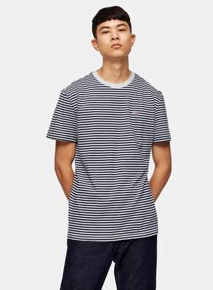 Tommy Jeans TopmanTopman Navy And Grey Stripe T-Shirt