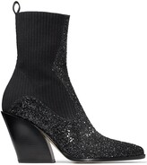Thumbnail for your product : Jimmy Choo Glitter Western Boots