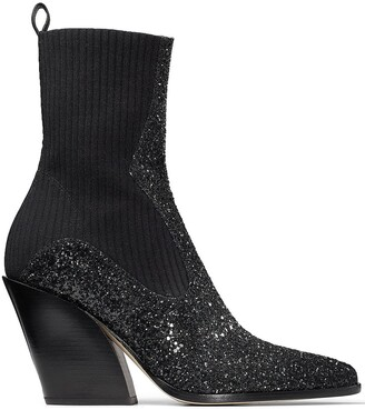 Jimmy Choo Glitter Western Boots
