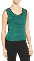 Ming Wang Women's Reversible Scoop Neck Knit Tank