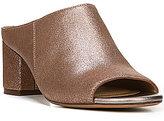 Naturalizer Cyprine Metallic Leather Peep-Toe Slip-On Dress Mules