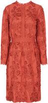 Vanessa Bruno Terracotta Cotton Floral Foraine Dress