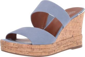 Franco Sarto womens Fiore Wedge Sandal Satin Taupe 11 M