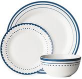 Avie Saturn Blue 12 Piece Porcelain Dinner Set