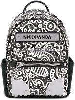 Nicopanda - doodle print backpack - women - Polyurethane - One Size