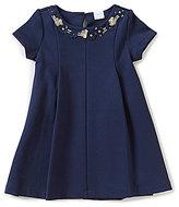 Edgehill Collection Little Girls 2T-6X Pleated Flower-Applique Dress
