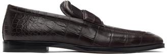 Bottega Veneta Brown Crocodile Loafers
