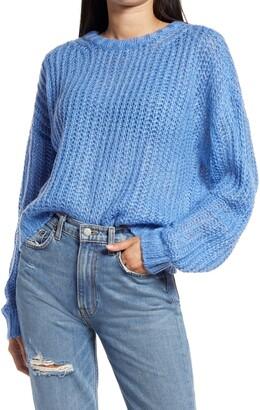 Socialite Loose Stitch Crewneck Pullover