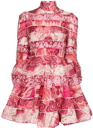 Zimmermann Ikat print mini dress