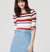 LOFT Petite Blockstripe Ribbed Sweater