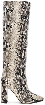 Paris Texas Knee High Python Print Boot in Natural | FWRD