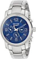 Sector Men's R3273639035 500 Analog Display Quartz Silver Watch