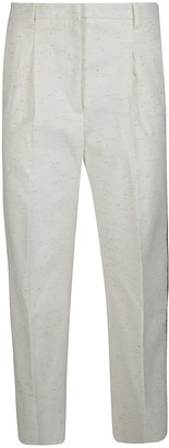 Golden Goose White Cotton Trousers