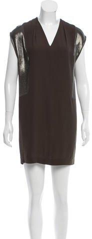 Sandro Sleeveless Chemise Dress