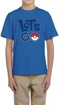 Hera-Boom Boys And Girls Mobile Game Let's Go Pokeball Logo T-shirts
