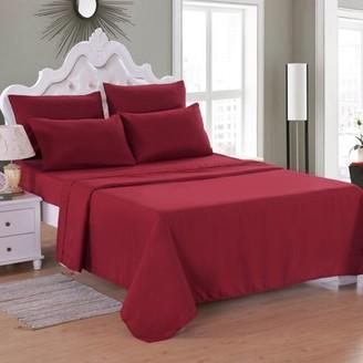 """Online 6 Piece Soft Microfiber Bed Sheet Set, Deep Pocket Up To 16"""", Wrinkle & Fade Resistant"""