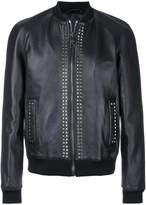 Les Hommes studded bomber jacket
