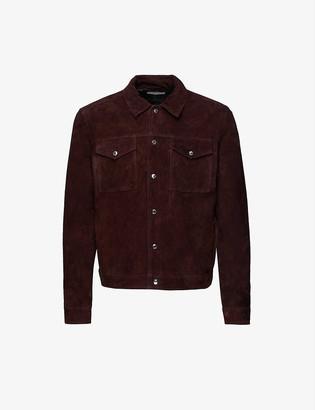 Reiss Jagger suede trucker jacket