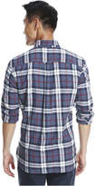 Joe Fresh Men's Essential Plaid Flannel Shirt, Dark Blue Mix (Size XL)