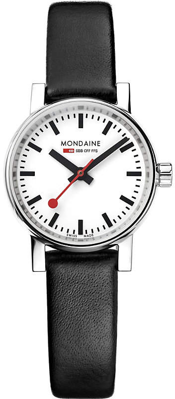Mondaine MSE-26110-LB evo2 Petite leather and stainless steel watch