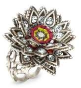 Miriam Haskell Crystal-Studded Ring