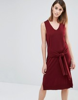 Whistles Sleeveless Knitted Dress with Tie Sleeve Front