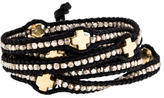 Chan Luu Two-Tone Cross Station Wrap Bracelet