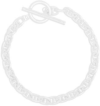 All Blues Pill polished sterling silver bracelet