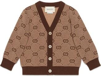 Gucci Kids Cardigan in lana GG