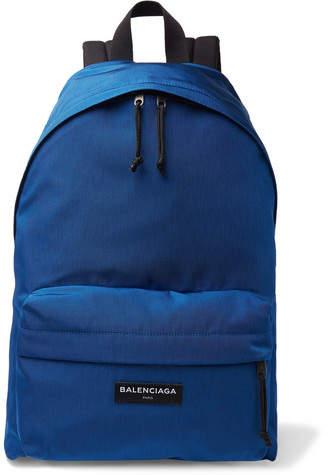 Balenciaga Explorer Canvas Backpack - Men - Cobalt blue
