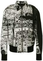 Alexander McQueen city map bomber jacket