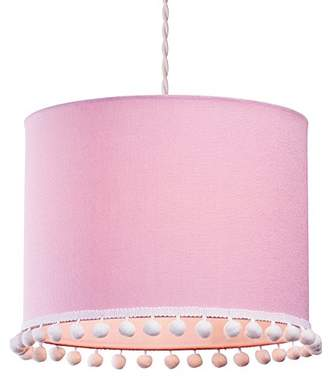 Village At Home Pom Cylinder Light, Polycotton, Light Pink