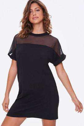 Forever 21 Mesh Yoke T-Shirt Dress
