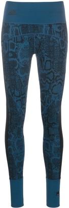 adidas by Stella McCartney Knitted Snakeskin-Effect Leggings