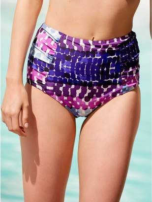 M&Co Smudge print high waist control bikini bottoms