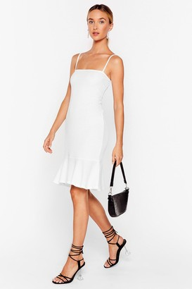 Nasty Gal Womens Flip 'Em Off Ribbed Mini Dress - White