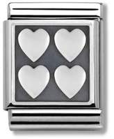 Nomination Composable Women's Bead Stainless Steel Oxidized Symbols Hearts 332110/09