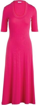 Rosetta Getty Flared Midi Dress