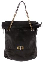 Lanvin Leather Fold-Over Shoulder Bag