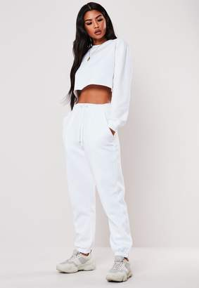 Missguided White Oversized 90S Joggers